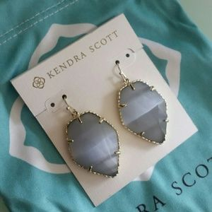 Kendra Scott Slate Cat's Eye Corley earrings